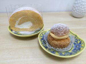シュークリームとロールケーキ